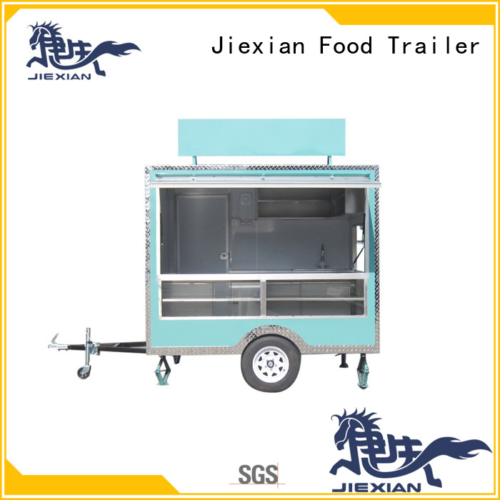 Jiexian custom food trailers with square roof for mobile business