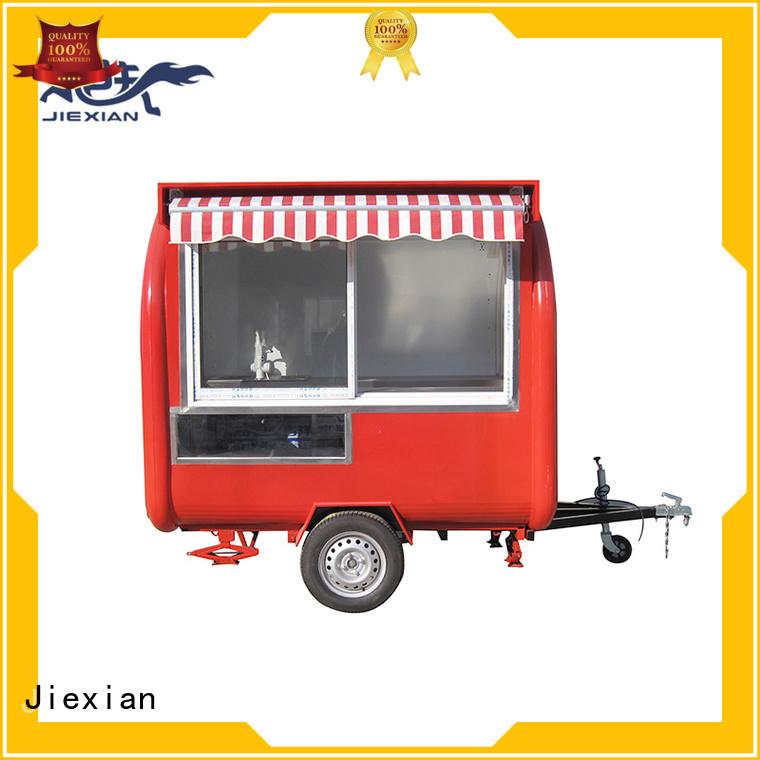 Jiexian custom concession trailers company for trademan