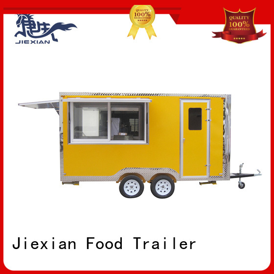 Jiexian outside food concession trailer China manufacturer for mobile business