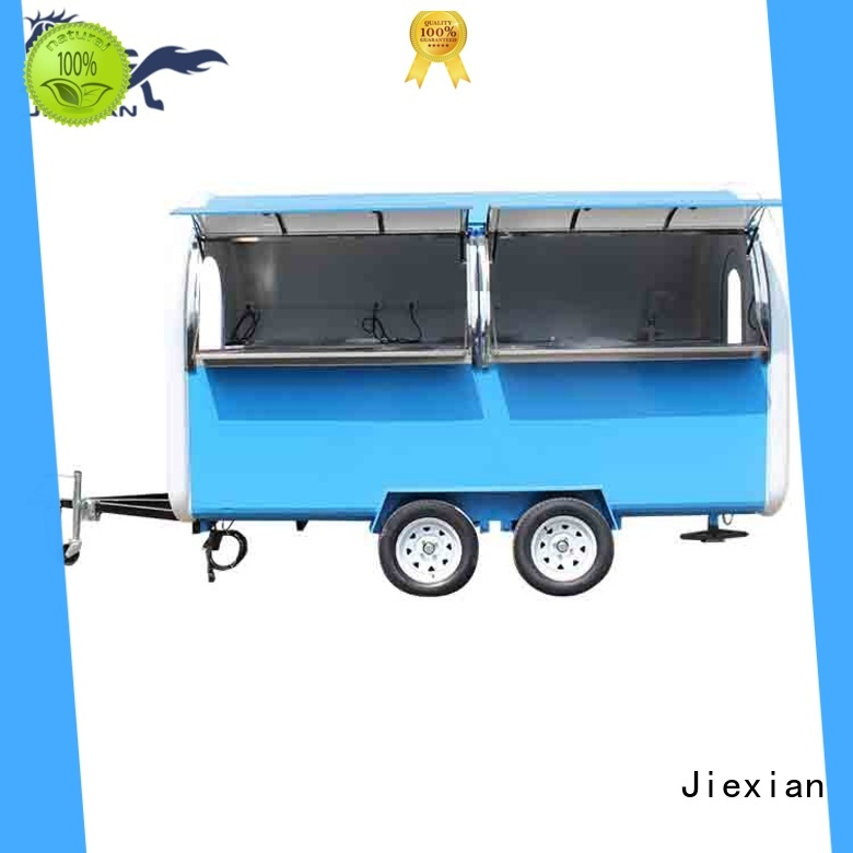 Jiexian competitive concession trailer nice design for mobile food selling