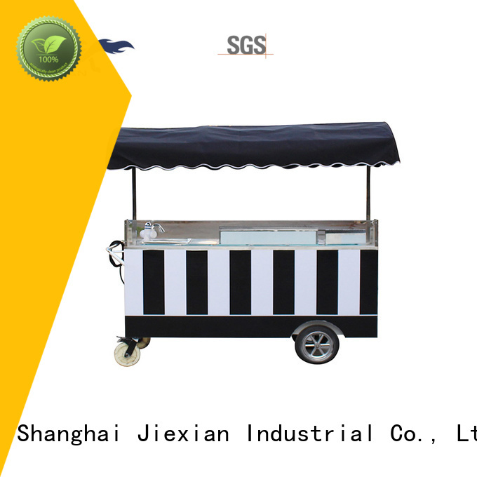 Jiexian high quality coffee cart manufacturer for selling coffee