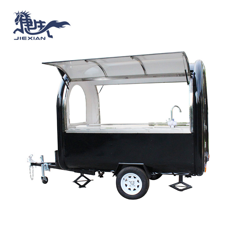 Roll Fried Ice Cream Machine Food Cart Fast Food Truck JX-FR250J