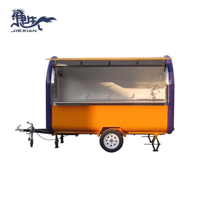 Food trucks mobile Concession Trailer Business caravan JX-FR300B