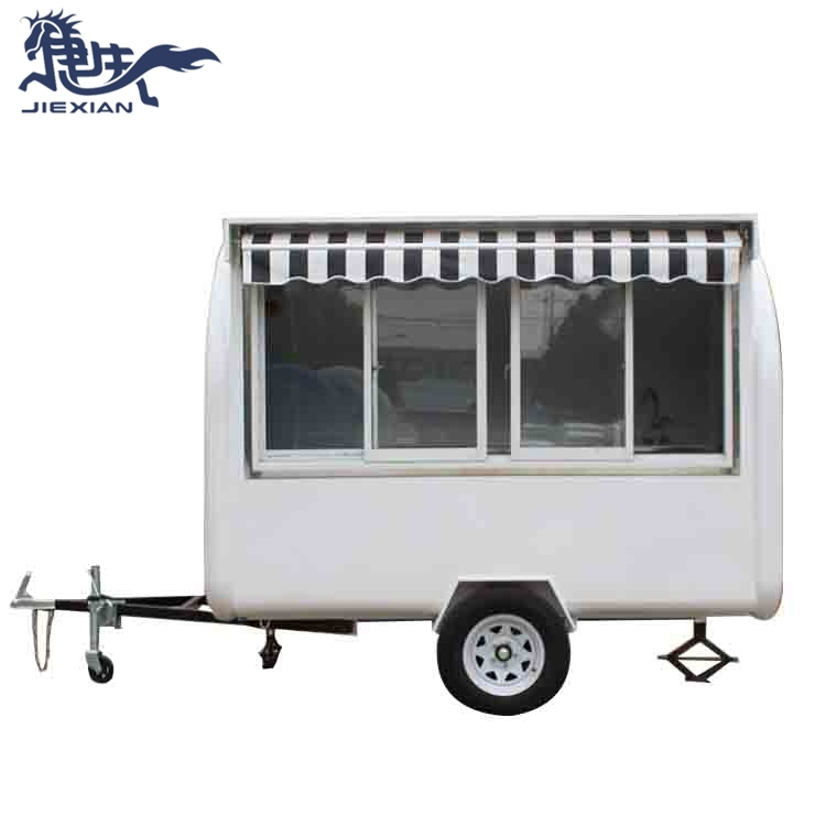 Street Vending Concession Trailers with awning JX-FR280WH
