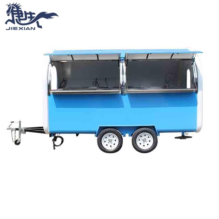 New food van trailer mobile kitchen cart fast food truck JX-FR350W