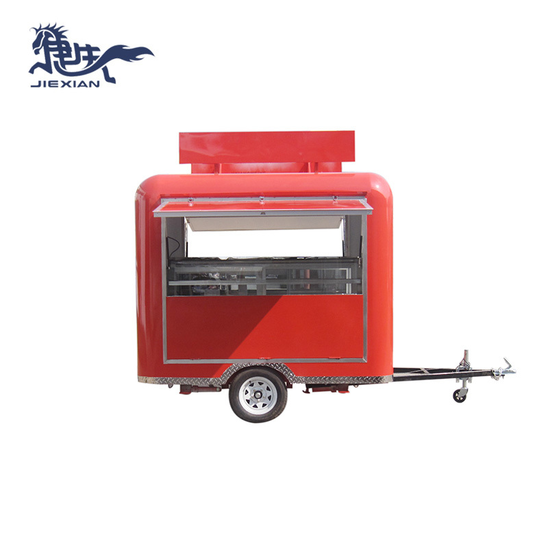 Barbecue Pit Trailer mobile snack car mobile canteen JX-FS250R