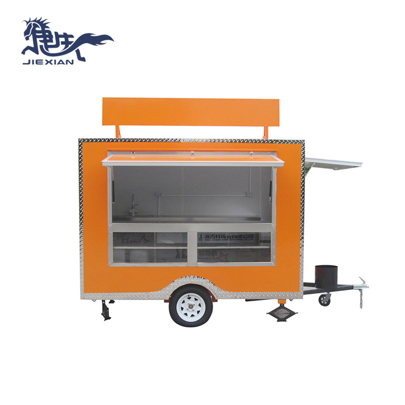 Small Deep Fryer Food Cart Mobile Kitchen Trailer JX-FS280