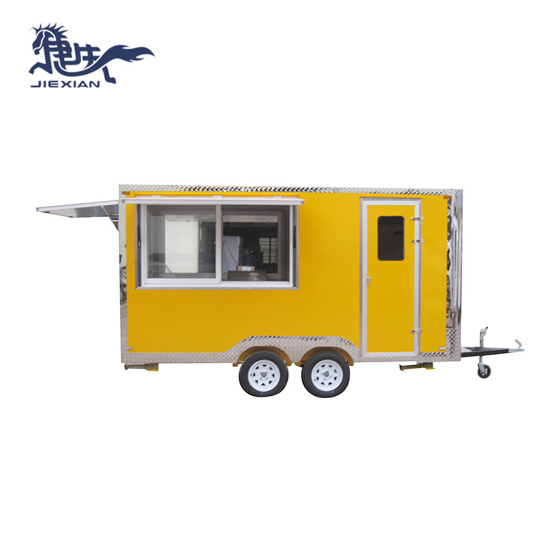Mobile Bbq Trailer cooking kiosk van trailer JX-FS400D