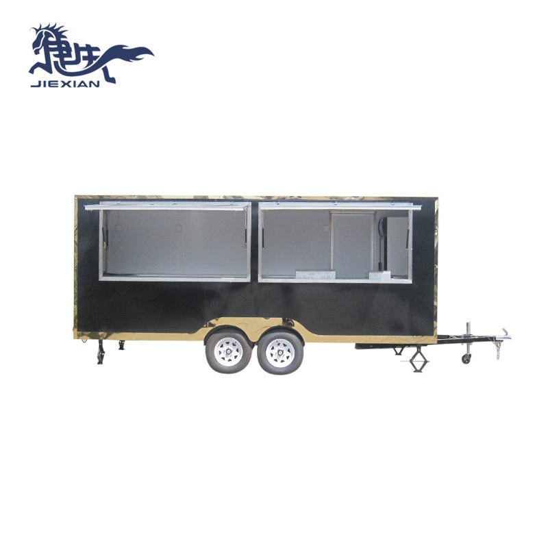 Mobile Bbq Food Trailer fast food kitchen van JX-FS500