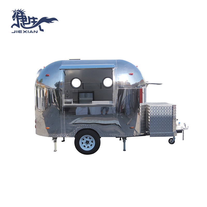 China Stainless steel airstream Pizza Truck Catering JX-BT300