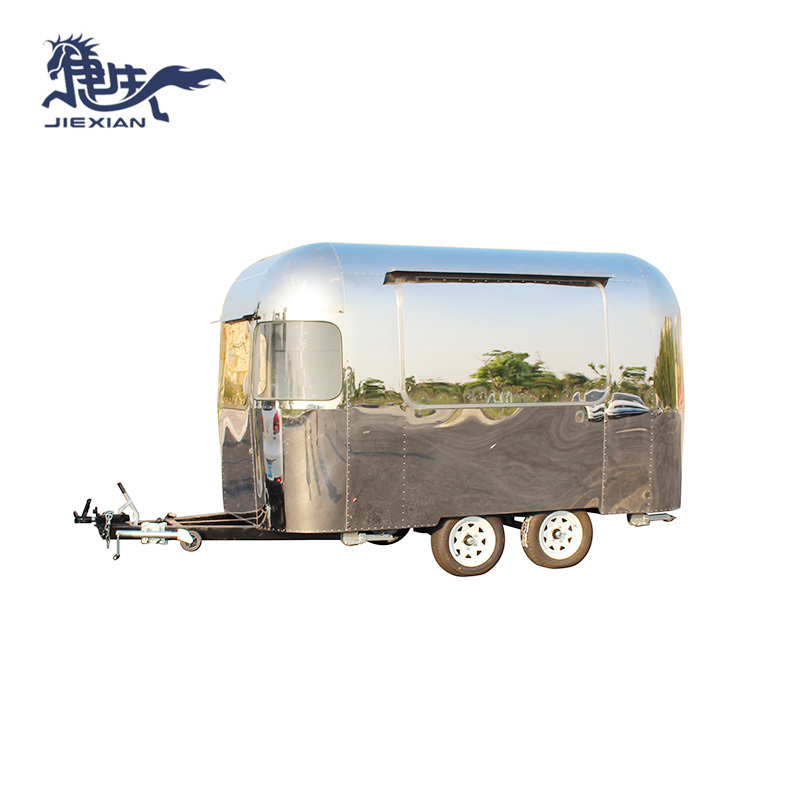 Mobile Pizza Cart concession food trailer for snack food JX-BT350