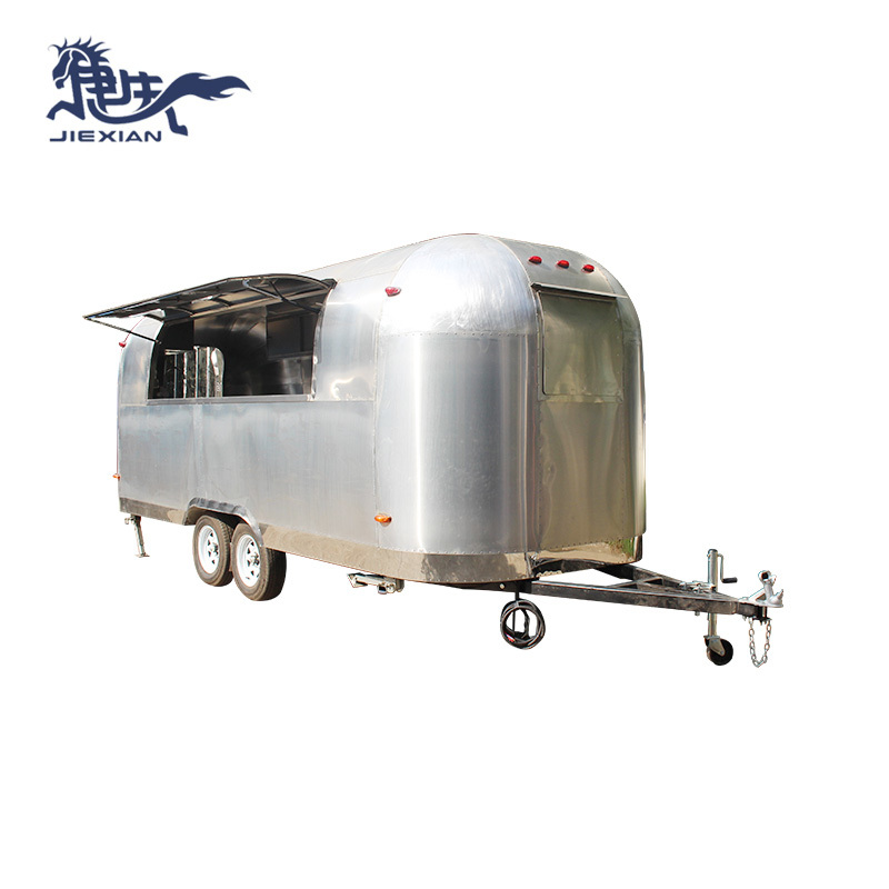 mobile pizza truck aluminum fast food camper van JX-BT580