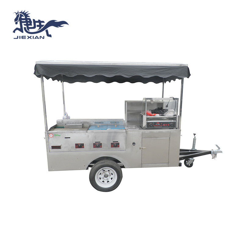 Street Mobile Hot Dog Cart Hot Dog Trailer JX-HS200D