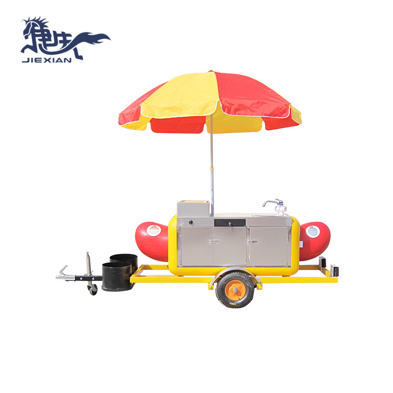 Commercial Hot Dog Cart push cart hot dog trolley JX-HS230