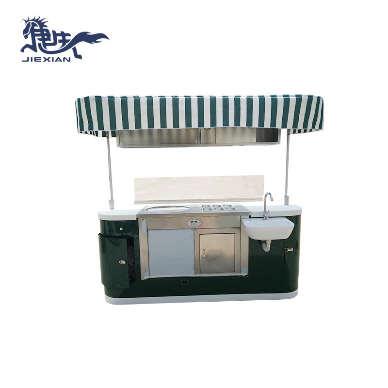 Ice cream outdoor mobile hand push food cart for sale JX-IC200