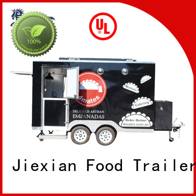 Jiexian custom concession trailers China manufacturer for barbecue selling