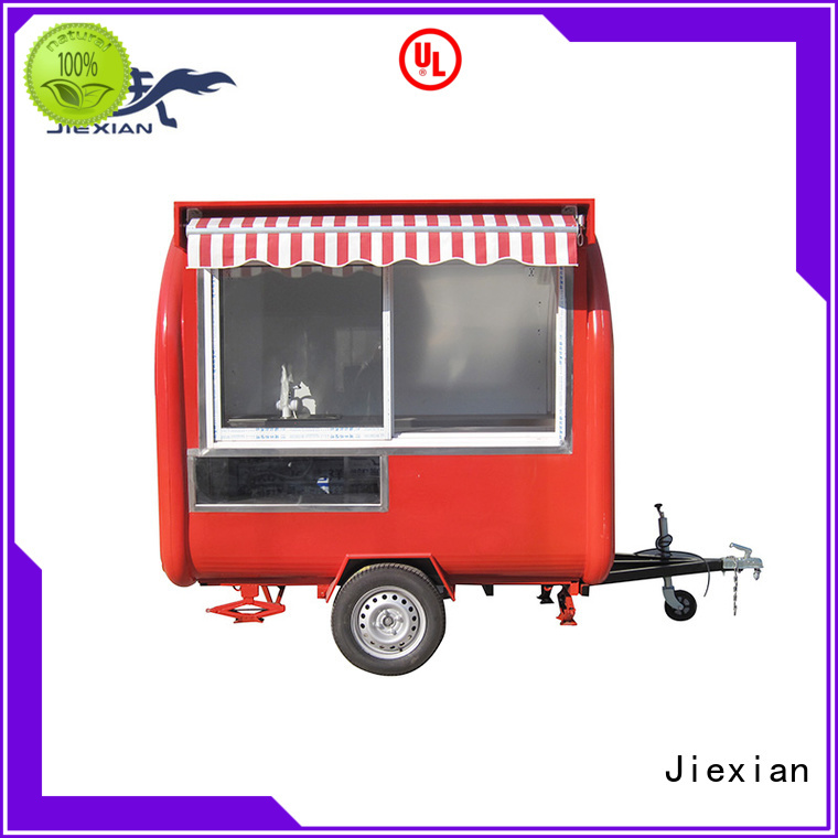 Jiexian 160cm concession trailer company for food selling