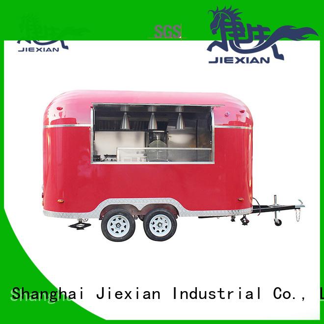 Jiexian burger vans manufacturer for selling hamburger