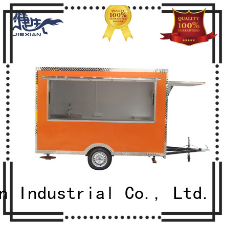 Good materials food concession trailer customization for barbecue selling