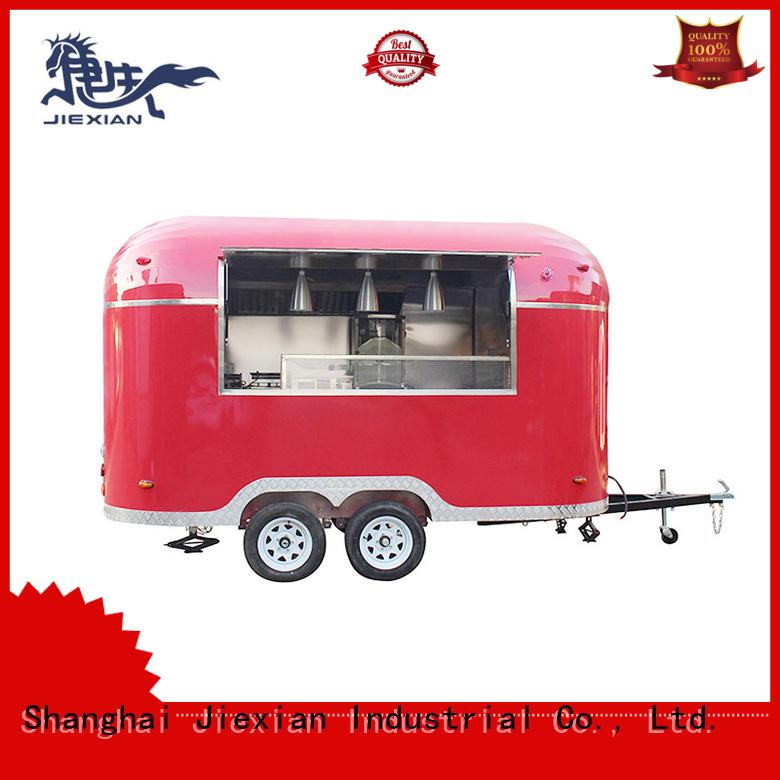 Jiexian hamburger truck manufacturer for selling snake