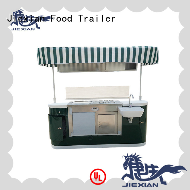 Jiexian outdoor mobile coffee cart directly sale for selling fast food