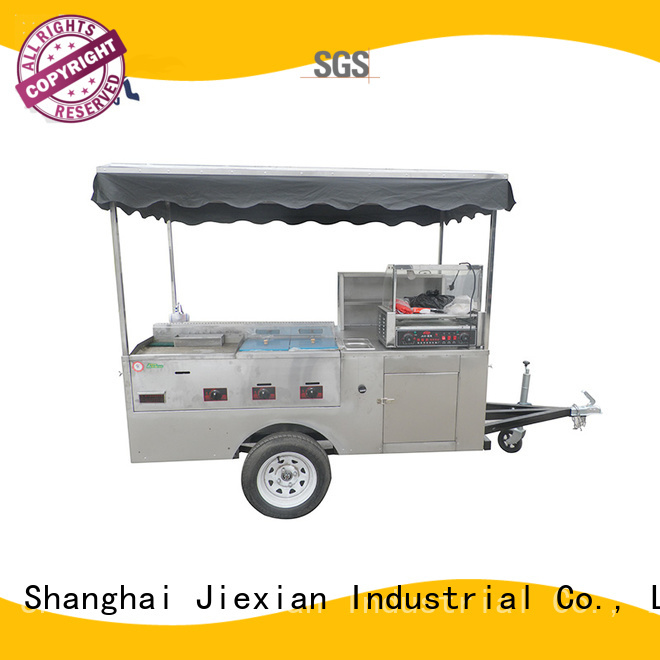 Jiexian vegan hot dog cart factory price for selling snack