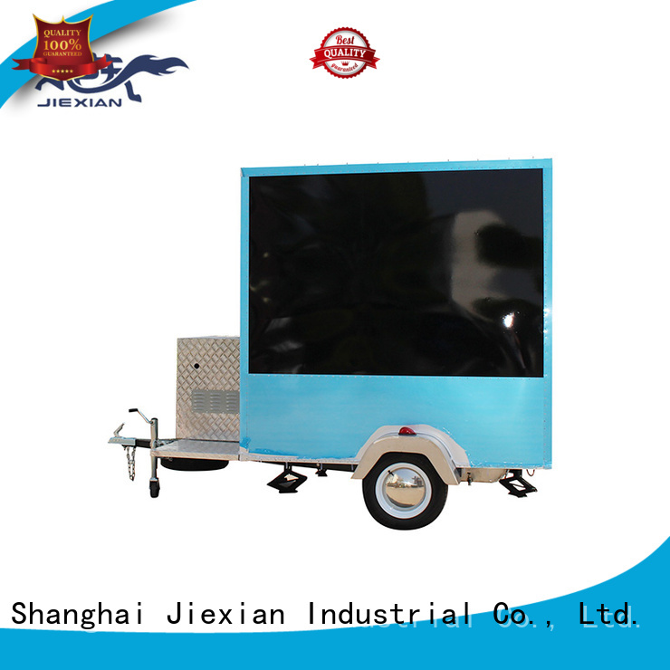 Jiexian mobile kitchen trailer China manufacturer for barbecue selling