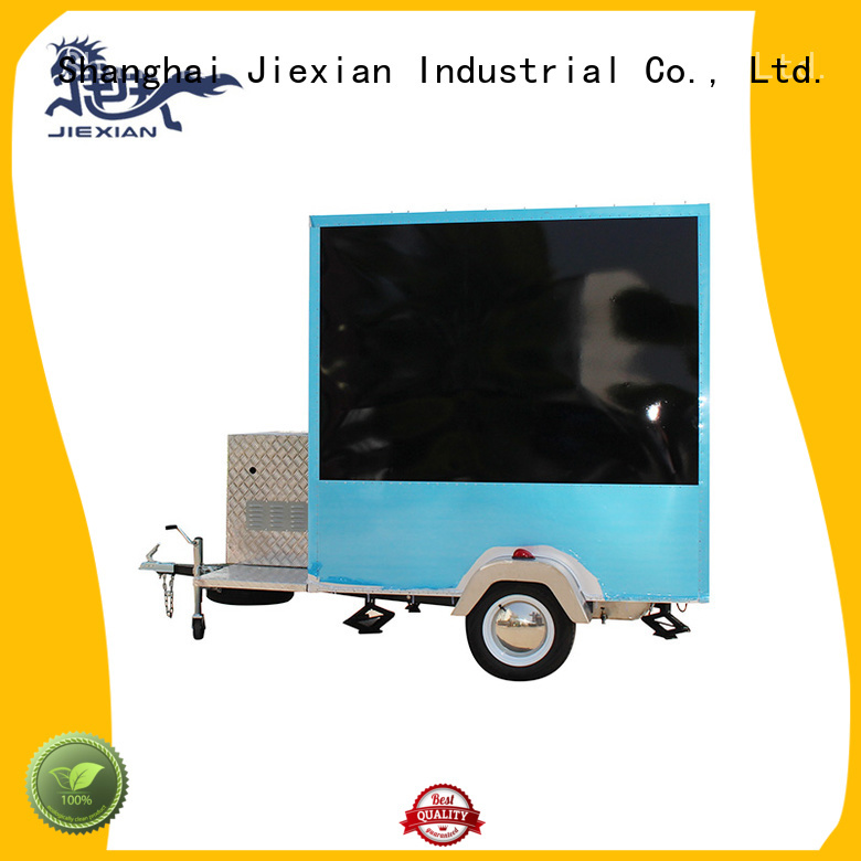 Jiexian outside mobile kitchen trailer for barbecue selling