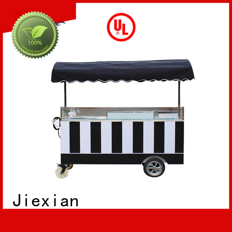 Jiexian high quality ice cream push cart directly sale for selling ice cream