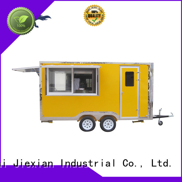 Jiexian Good materials food concession trailer customization for bbq selling
