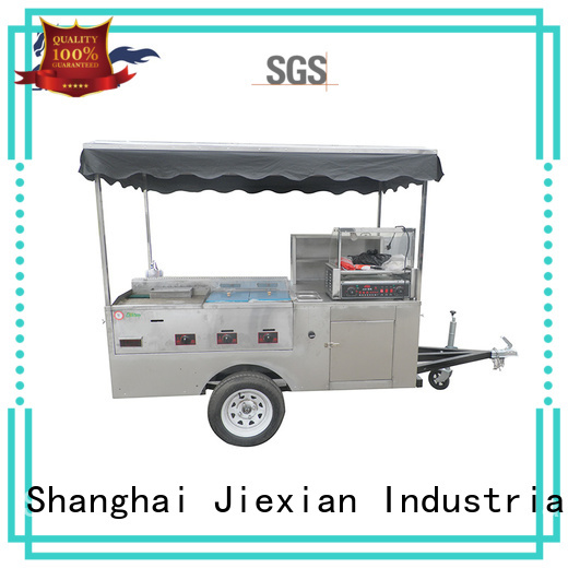 Jiexian convenient vegan hot dog cart factory price for selling fast food