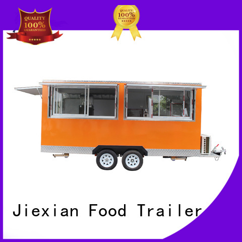 Jiexian food concession trailer customization for barbecue selling