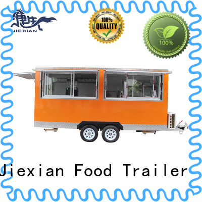 Jiexian food concession trailer with square roof for bbq selling
