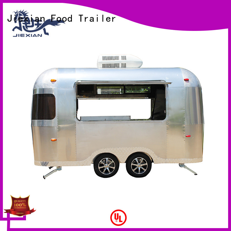 Jiexian stainless steel pizza concession trailer inquire now for selling snake