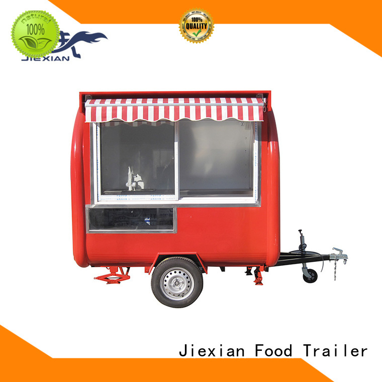 Jiexian quality custom concession trailers company for trademan