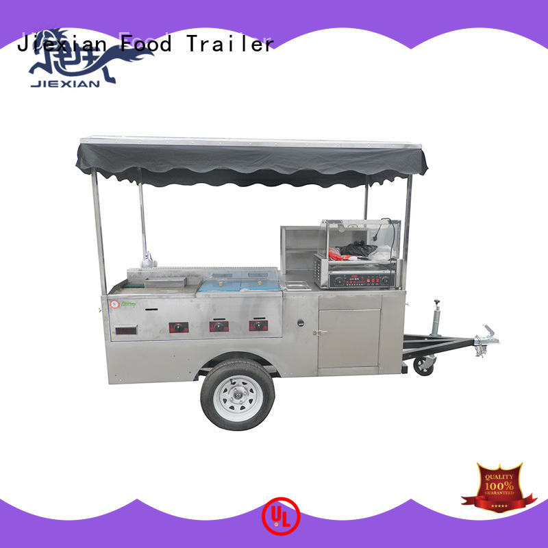 Jiexian hot dog trailer supplier for selling fast food