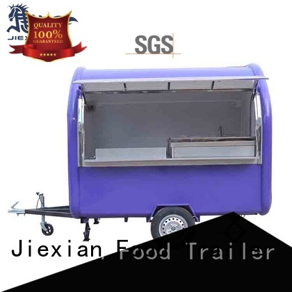 Jiexian mobile concession trailer nice design for snake selling