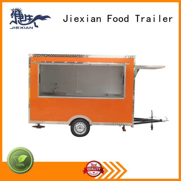 Jiexian custom food trailers for barbecue selling