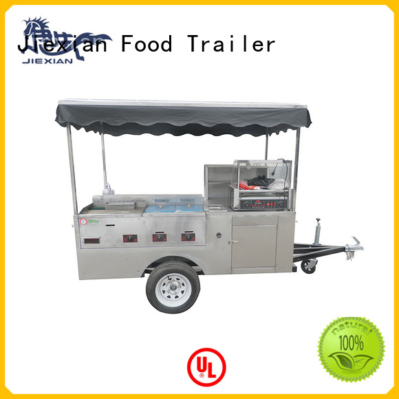 Jiexian new york hot dog cart personalized for selling snack