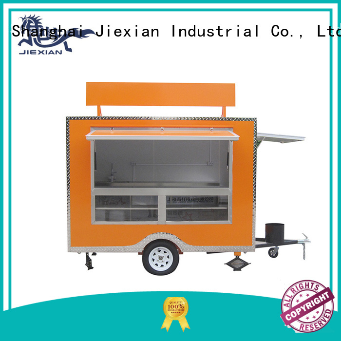 Jiexian custom food trailers customization for barbecue selling