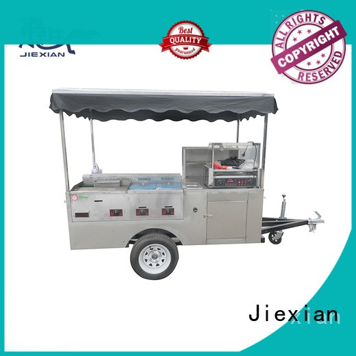 Jiexian vegan hot dog cart wholesale for selling snack
