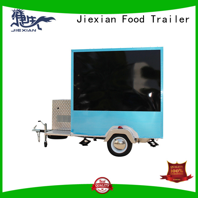 Jiexian Good materials custom food trailers China manufacturer for bbq selling