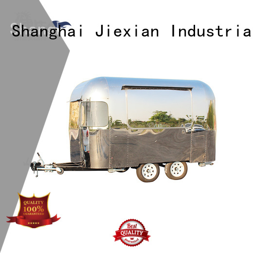 Airstream type pizza truck factory for selling snake