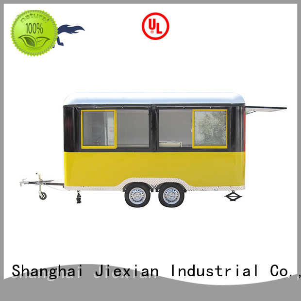 Jiexian bbq concession trailer with smoker with competitive price for BBQ trademan