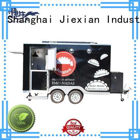 Jiexian mobile food trailer China manufacturer for bbq selling