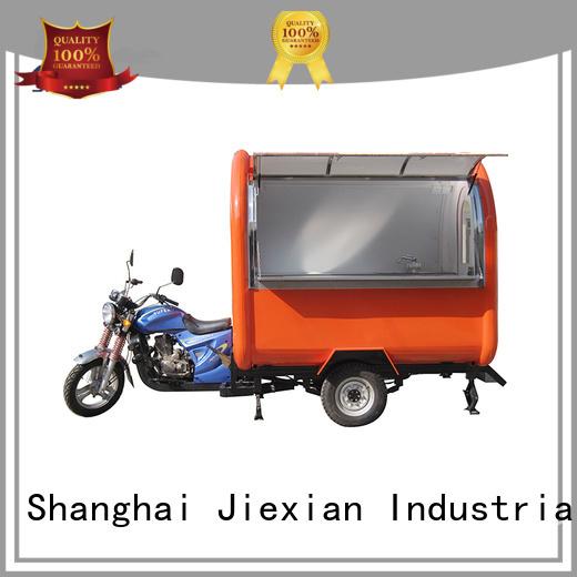 Jiexian hot-sale motorcycle food truck factory