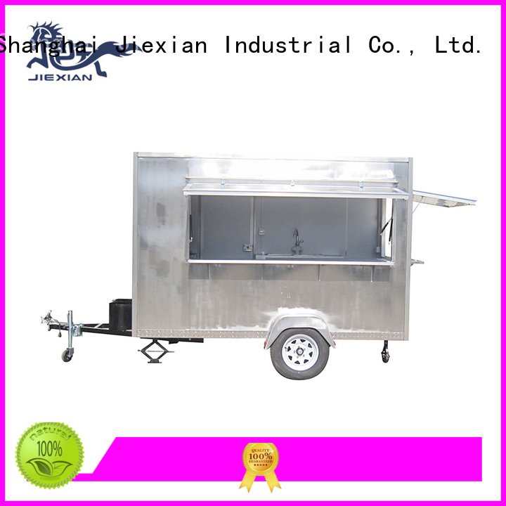 stainless steel mobile pizza truck factory for selling pizza