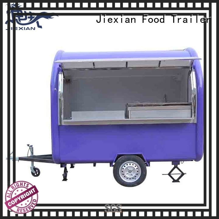 Jiexian 200cm concession trailer with good price for snake selling