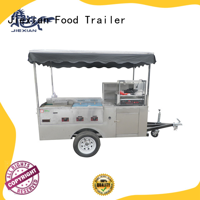 Jiexian nostalgia hot dog cart wholesale for selling fast food