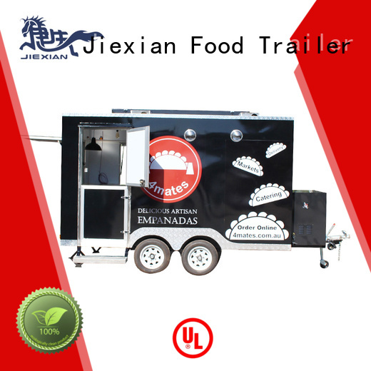 Jiexian mobile food trailer with square roof for mobile business